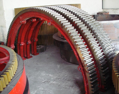 4200mm diameter of the large kiln gear