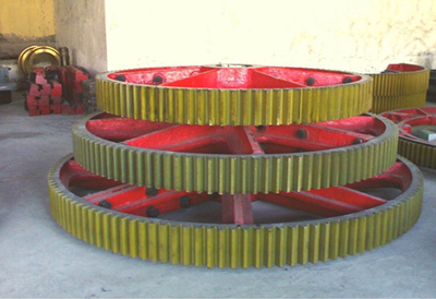 2600mm diameter of the large dryer gear