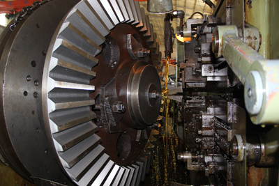 1400mm diameter of straight bevel gear used in marine applications