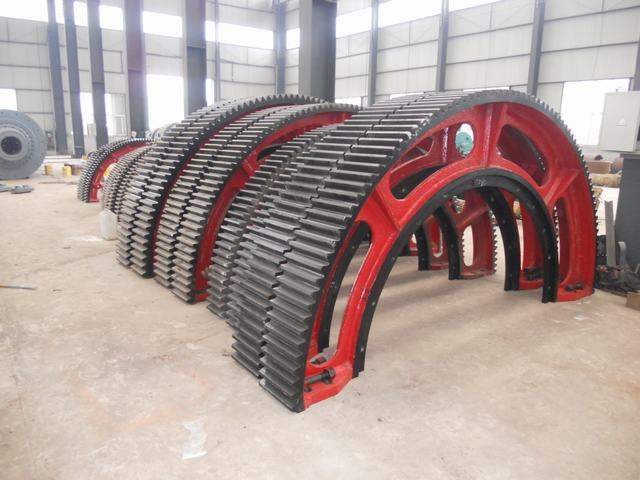 Heat Treatment Rotary Kiln Large Ring Gears
