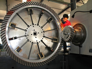 The bevel gear contact area inspection
